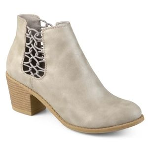 Gray Laced Panel Booties from Journee Collection
